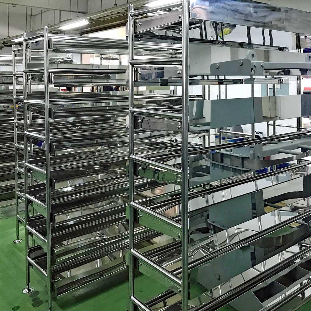Kệ thép không gỉ sản xuất thực phẩm/Stainless steel shelves for food manufacturing